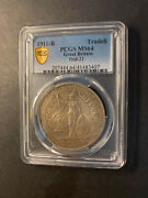 China Great Britain Trade Dollar 1911 Bombay Toned Gem Uncirculated Pcgs Ms64