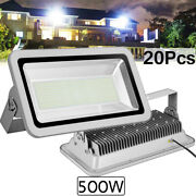 20x 500w Led Flood Light Cool White Camping Outdoor Lighting Security Wall Lamp