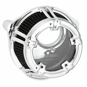 Arlen Ness 18-971 Chrome Method Clear Series Stage 1 Air Cleaner 08-16 Tbw New