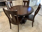 5 Pc Kitchen Table And Chairs Solid Cherry