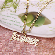 Cuban Chain Name Necklace Pendant Customized Jewelry Personalized Cheap Gift