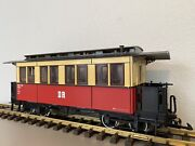Lgb 31610 Dr Passenger Coach W/metal Wheels, Lights And Figures G Scale
