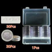 30pcs Transparent Round Cases Coin Storage Boxes Capsules Holder For 1646mm New