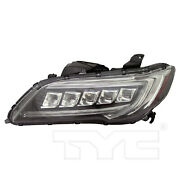 Headlight Front Lamp For 16-18 Acura Rdx Led Left Driver