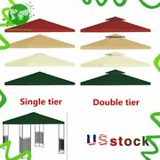 New 9.84ft Gazebo Canopy Top 12 Tier Patio Outdoor Sunshade Cover Us