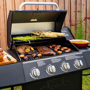 Expert Grill 4 Burner With Side Burner Propane Gas Grill In Blue New