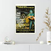 353443 1950's The Day The Earth Stood Still Movie Print Poster