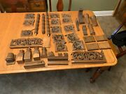 38 Piece Wooden Church Decorations Solid Wood Carved