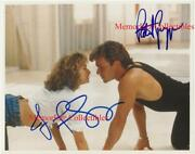 Dirty Dancing Patrick Swayze And Jennifer Grey Signed Autographed 8x10 Color Photo