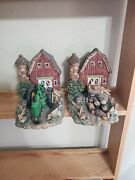 Officially Licensed John Deere Bookends Heavy Resin Tractor Barn Crops Rooster