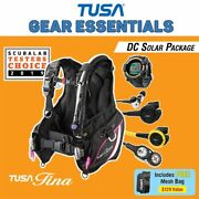 Tusa Womenand039s Tina Dc Solar Black/gold Packages