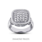 1 Ctw E Vs2 Round Cut Natural Earth Mined Certified Diamonds 14k Gold Fine Ring