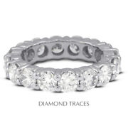 2ct F Si2 Round Earth Mined Certified Diamonds 18k Gold Classic Eternity Band