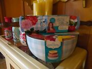 The Pioneer Woman Floral Check Nesting Bowls And Sweet Rose Rolling Pin