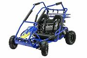 Coleman Powersports Off Road Go Kart, Gas Powered, 196cc/6.5hp, Blue Kt196-bl