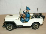 Coche Jeep Police Dept Tn Made In Japan Trade Mark Metal 50´s Tin Toy Car Japon