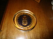 Vintage Department Of The Air Force Usa Crystal Paperweight Mint Condition