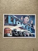 1993 Metal Lionel Trains Engines Boy 1952 Catalog Cover Tin Sign. 16 X 12