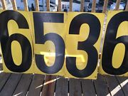 4 Vintage Gas Station Numbers Double Sided Signs