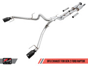 Awe 0 Fg Resonated Exhaust Black 5 Tips For Ford 17 - 20 Gen 2 Ford Raptor