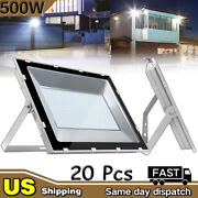 20pcs 500w Led Flood Light Cool White Outdoor Lighting Security Wall Work Lamp