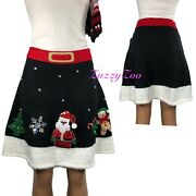 Merry And Bright Christmas Ugly Sweater Skirt Mrs. Claus Sequin Sz L-xl-2xl-3xl