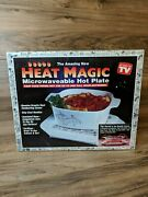 Vintage Heat Magic Microwaveable Hot Plate As Seen On Tv New Open Box