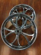 Misc Pm Luxe Chrome 21 Wheels Tires Package Set 02-07 Touring Flh Pm-lux-211842