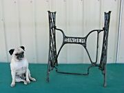 Antique Vintage Singer Sewing Machine Treadle Cast Iron Table Base