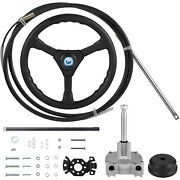 Vevor Boat Rotary Steering System Outboard Kit 12 Feet Marine With 13and039and039 Wheel