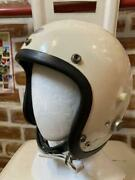 Bell Helmets Ell 500tx M Shell Double Strap 1960and039s Vintage Size 7 3/8