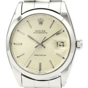 Vintage Rolex Oyster Date Precision 6694 Steel Hand Winding Mens Watch Bf523435