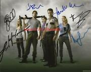 The Walking Dead Andrew Lincoln / Emma Bell +4 Signed Autograph 8x10 Color Photo