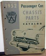 1949 1950 1951 1952 Ford Pass Car Chassis Parts Andaccessories Catalog Manual Book