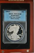 1986 S American Eagle 1 Silver 1 Oz Anacs Pr70 Dcam First Year Issue Coin