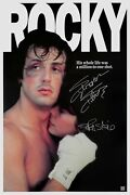 Sylvester Stallone And Talia Shire Autographed Rocky 24x36 Movie Poster Asi Proof