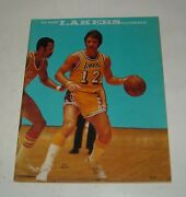 1975 Los Angeles Lakers Illustrated Magazine Pat Riley Cover Nba Basketball