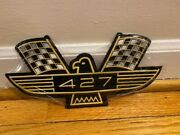 Ford 427 Ho Embossed Tin Sign Mustang Fairlane Galaxie Sohc Side Oiler Cammer