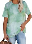 Shed Protector Womenand039s Round Neck Short Sleeve Shirts Loose Casual Tee Tops Blou
