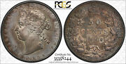 Canada 1898 Silver 50 Cents Pcgs Graded Xf40 Nice Old Toning Scarce High Grade
