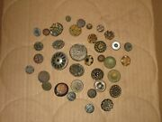 Vintage Antique Metal Button Buttons Sewing Crafts