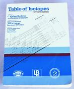 1978 Table Of Isotopes 7th Edition By C. Michael Lederer And Virginia Shirley