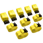 10pcs Kit For 4 X 30and039 Flat Hook Winch Straps Flatbed Truck Trailer Tie Down New