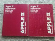 2 Vintage 1978 Apple Ii Reference Owners Manual - The Red Book 030-0004-00