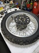Yamaha Xt350 1986-89 Xt350 18in Rear Wheel And Brake Drum And Axle And Speedometer