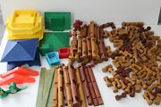 Lincoln Logs Lot 150+ Pieces Mixed Log Sizes Windows Roofs Frontier Playskool