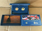 400th Anniversary Of The Mayflower Voyage Two-coin Gold Proof Set 20xa Usa + Uk