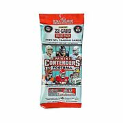 New 2020 Nfl Panini Contenders 22 Card Value Fat Pack Sealed Hot Sold Out
