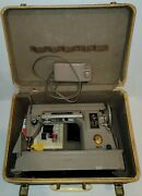 Singer 301a Sewing Machine With Foot Pedal, Case And Accessories Vintage Works
