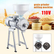 Electric Feed Mill Wet Dry Cereals Grinder Rice Corn Grain Coffee Wheat 2200w Us